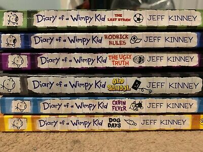 Set Of 6 Diary Of A Wimpy Kid Books
