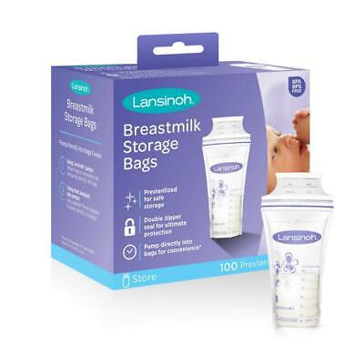 Lansinoh Breastmilk Storage Bags, 100 Count (1 Pack of 100 Bags), Milk...