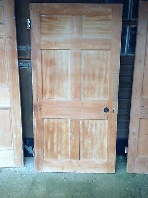 antique stripped Edwardian door in excellent condition. 184x94cm.