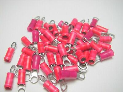 22-18 AWG Mil-Spec Insulated Crimp-Style Ring Terminal Lug (50 Pieces) US Seller