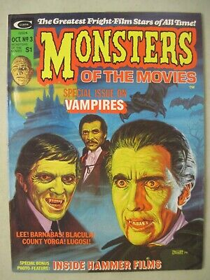 Monsters Of The Movies #3 Marvel Horror Magazine 1974  Vampires Hammer Films