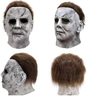 Michael Myers Adult Face Mask  2019 Halloween Hot Movie Latex Horror Scary Mask