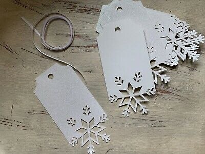 non shed glitter blue and silver tags crafts 10 homemade CHRISTMAS GIFT TAGS