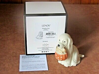 LENOX GHOSTLY PUP PORCELAIN HALLOWEEN TRICK OR TREAT FIGURINE New in Box
