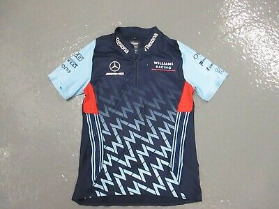 Williams Racing F1  Mercedes AMG  1/4 Zip Polo Shirt Small
