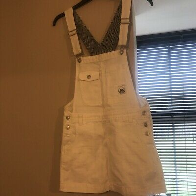 white denim dungaree dress, Brand New With Tags