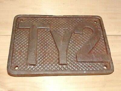Vintage wall plate plaque railway bridge cast iron sign TY2