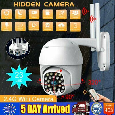 HD WiFi 1080P Camera Wireless Waterproof Dome Home Security 23 LED Night Vision