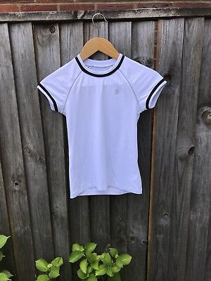 Poivre Blank Girls Tennis top Size 12 A white
