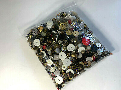 Estate Sale Find Mixed Huge Lot Vtg Sewing Buttons Various Sizes 5 Pound #B0002