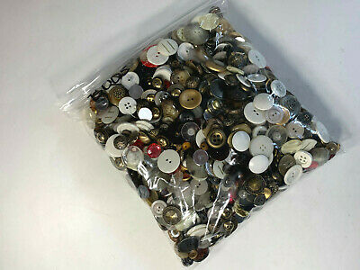 Estate Sale Find Mixed Huge Lot Vtg Sewing Buttons Various Sizes 5 Pound #B0005