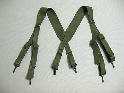 US Army WW2 M1936 Combat Suspenders first version OD rare variant
