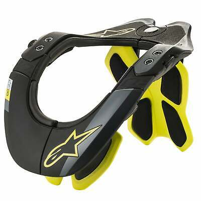 Alpinestars Bns Tech-2 Homme Armures Neck Brace - Black Yellow Fluo