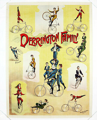 DERRINGTON FAMILY, Originalplakat um 1900