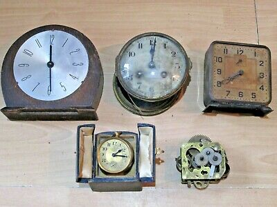 Collection Of Clocks/Mechanism For Spares Or Repairs - Lot 1