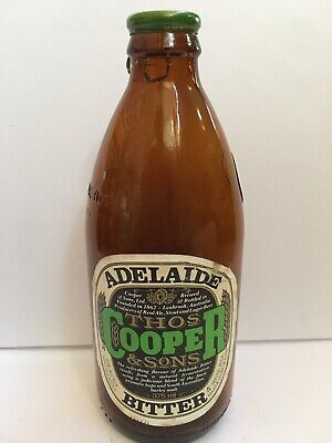 Collectable  - Thos Cooper & Sons Adelaide Bitter 375ml, Paper Label, Rare