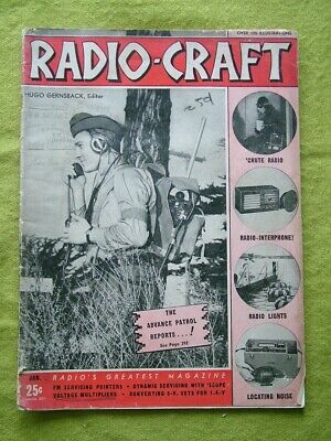Radio Craft / Jan 1941 / Voltage Multipliers / Dynamic Servicing With Scope