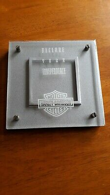Harley davidson picture frame rare.never used genuine hd