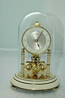 Vintage Bentima Anniversary Clock With Glass Dome & Key.