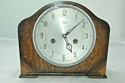 Antique/Vintage Smiths Enfield Mantle Clock With Key.