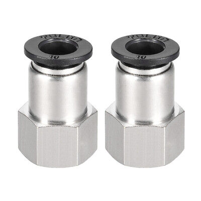 Push to Connect Tube Fitting Adapter 10mm OD x 3/8 NPT Straight Connecter 2pcs