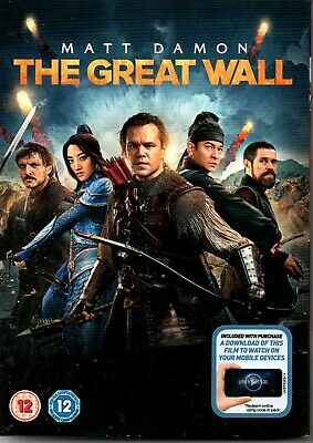 The Great Wall (DVD, 2017)-MATT DAMAN-ACTION-ADVENTER-FANTASY-DRAMA