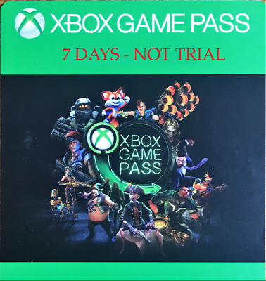 Xbox Game Pass/Live Gold For Ultimate 4x7 Days - NOT TRIAL