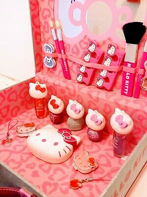Kitty Little Cosmetic Case + Make Up Dressing Up Collectable Toy Vgc Christmas