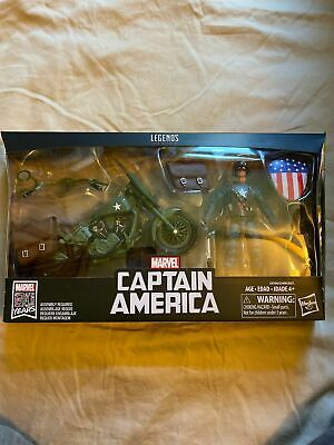 Marvel Legends Series WW2 Captain America with Motorcycle