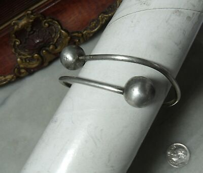 Antique Edwardian Sterling Silver Rare Bypass Bracelet