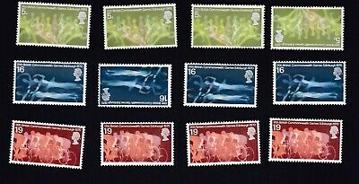 GB STAMPS 1970~ 9th BRITISH COMMONWEALTH GAMES, EDINBURGH ~4 SETS OF MNH STAMPS