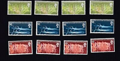 GB STAMPS 1970 ~ 9th BRITISH COMMONWEALTH GAMES, EDINBURGH ~4 SETS OF MNH STAMPS