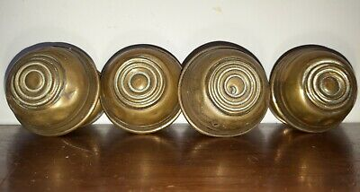 4x Reclaimed Brass Finials Victorian Finials Victorian Curtain pole Ends Roundel
