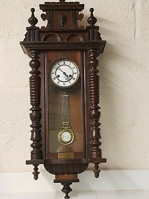 Very Large Vintage / Antique Gustav Becker wall clock in good working condition.