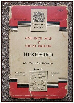 1956 Ordnance Survey Os Seventh Series One Inch Map, Hereford Sheet 142