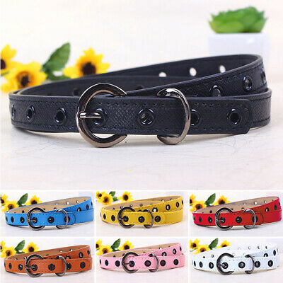 Boys Girl Belt Faux Leather Waist Waistband Buckle Adjustable Accessory One Size