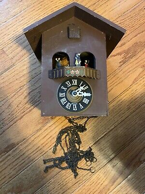 Old Vintage Coo Coo Clock Auf Wiedersehen 1016 Germany For Parts Only