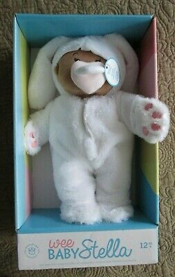 NIB-Manhattan Toy Co-Wee Baby Stella Soft Doll w/Bunny Outfit-Magnetic Pacifier