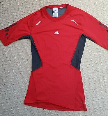 Adidas Techfit Short Sleeve Compression Top (Red)