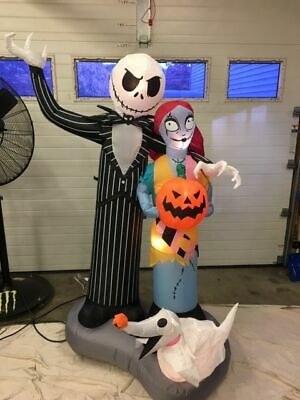 HTF JACK SKELLINGTON ,SALLY, ZERO Nightmare Before Christmas Airblown Inflatable