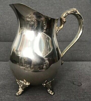 Oneida Silverplate Footed Water Pitcher with Ice Lip Lovely Design