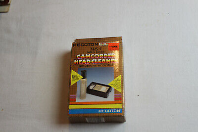 Recoton VHS-C Camcorder Wet Type Head Cleaner - New