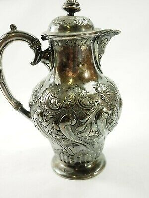 Victorian Atkin Brothers Sheffield England Ornatly Embossed Silver Plate Pitcher