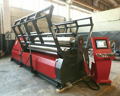 "Brand New 2019 CNC Akyapak 10' x 5/8"" 4-Roll Plate Roll AHS 30/13 Variable Speed"