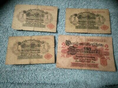 Rare! 1914 World War One Germany Battlefield Banknote Collection!
