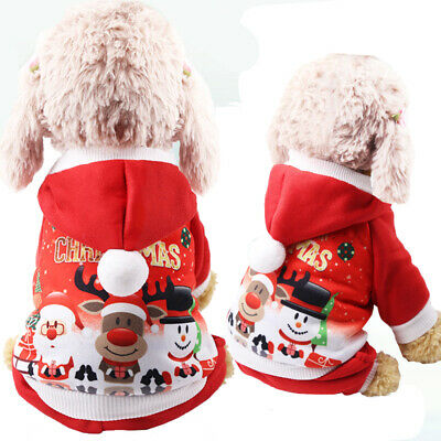 Pet Dog Christmas Clothes Puppy Cat  Coats Xmas Winter Warm Outfit Sweater
