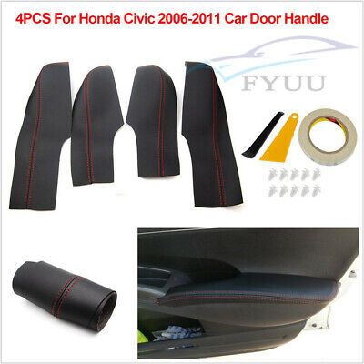 For Honda Civic Coupe Front Armrest Door Real Leather Medium Gray for 06-11