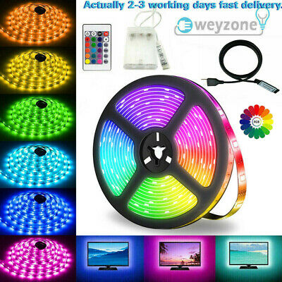 5V USB 5M LED Strip Lights TV Backlight 5050 RGB Colour Changing +Remote Control