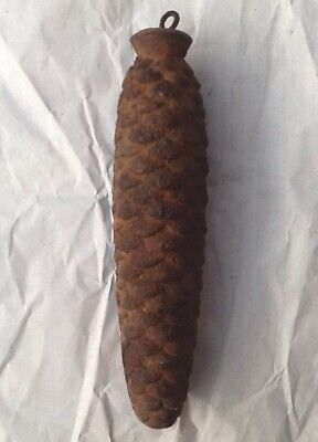 Antique Cast Iron Fir Cone Cuckoo Clock Weight 1.2kg