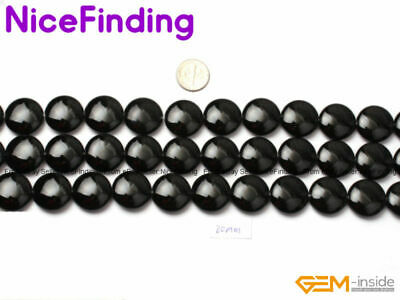 """20mm Coin Natural Gemstone Loose Beads For Jewelry Making Assorted Stone 15"""" DIY"""